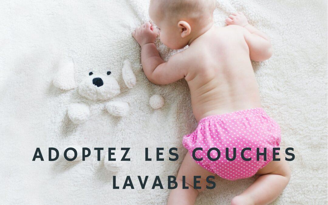 bébé avec couches lavable